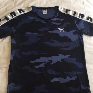 Pink ! Blue army shirt